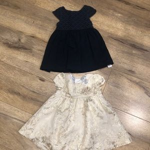 Pair of Beautiful Girl's Dresses in Size 9-12 mon